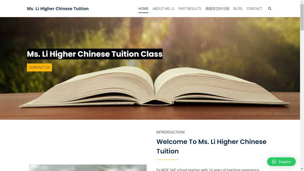 Ms. Li Higher Chinese Tuition