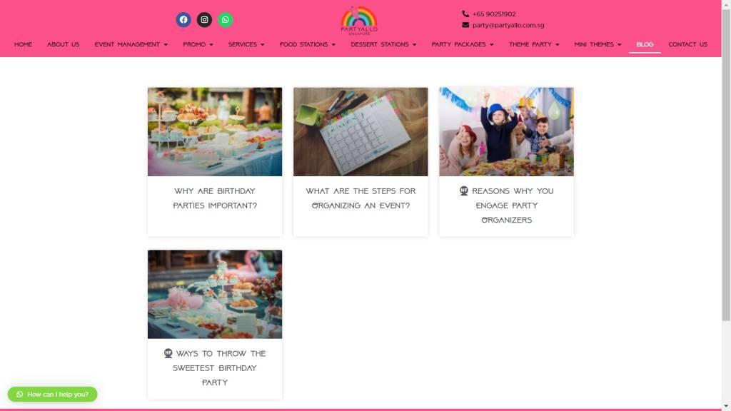 Website Development PartyAllo Blog_1