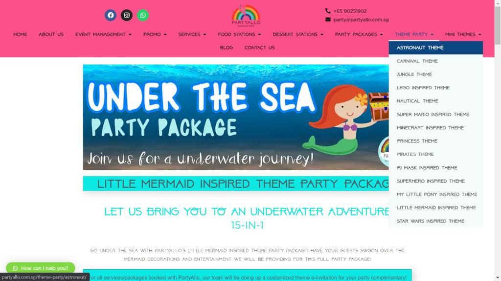 Website Development PartyAllo_1
